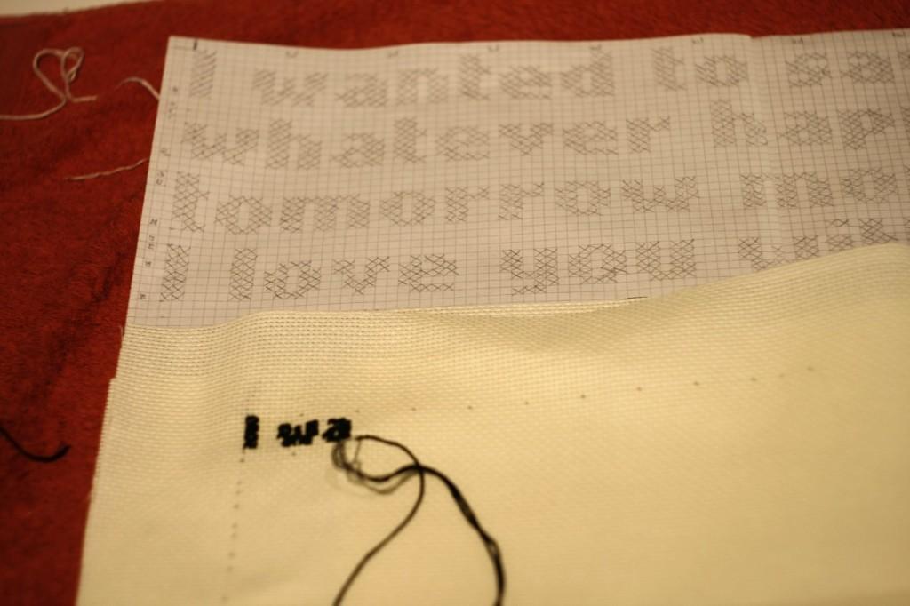 Text Message Cross Stitch Sampler