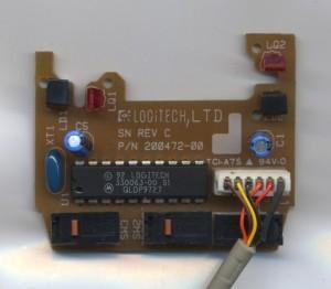 logitech mouse circuitboard top