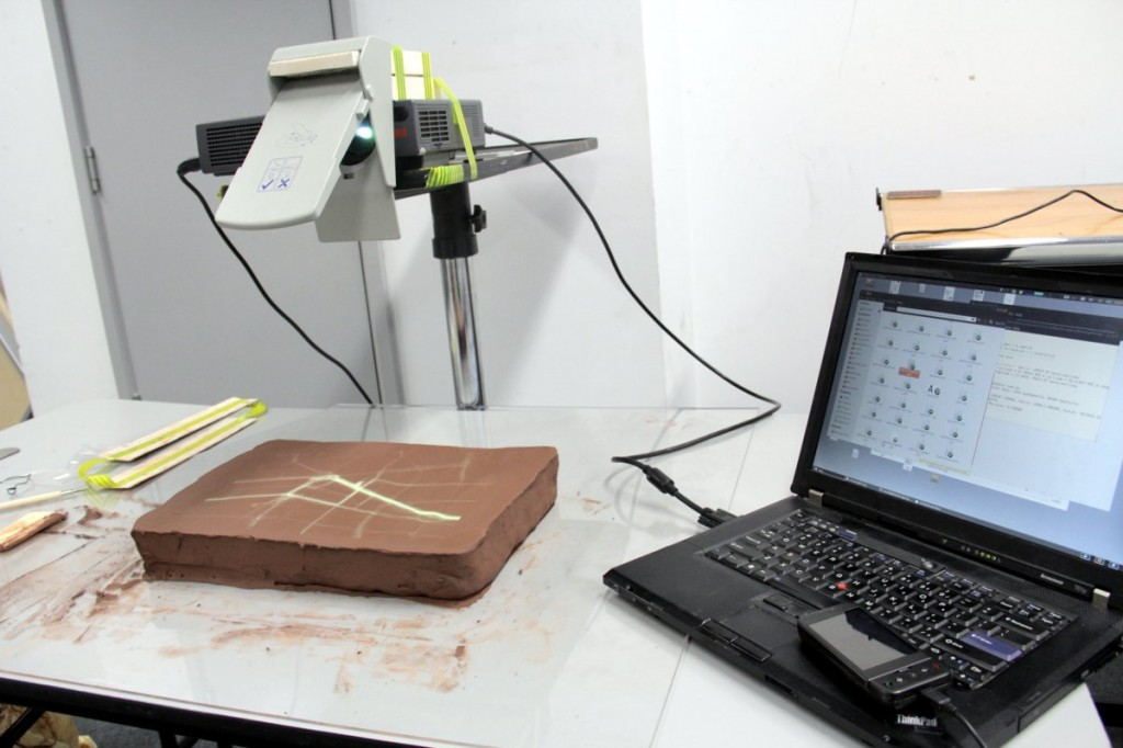 Setup for clay mapping